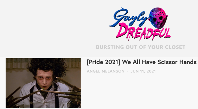 Gayly Helpful: We All HAve Scissor Hands Pride Fundraiser
